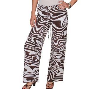Michael Kors Wide Leg Animal Print Pants, 6 Petite
